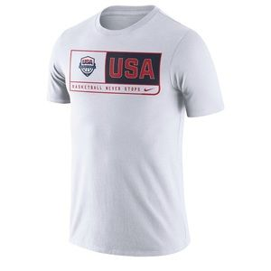 Men's Nike White USA Basketball Team DriFIT TShirt